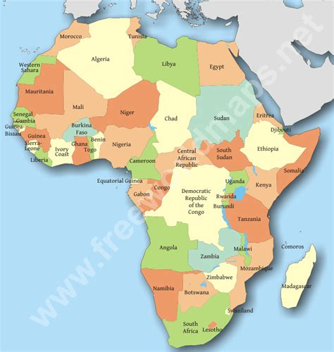 africa map by country africa countries