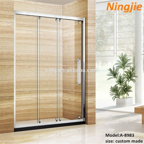 Three Panel Sliding Shower Door Three Panel Sliding Gl Door Floors Doors Interior Design
