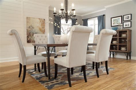 tripton rectangular dining room table d530 25 tables signature design by ashley tripton 7 piece rectangular
