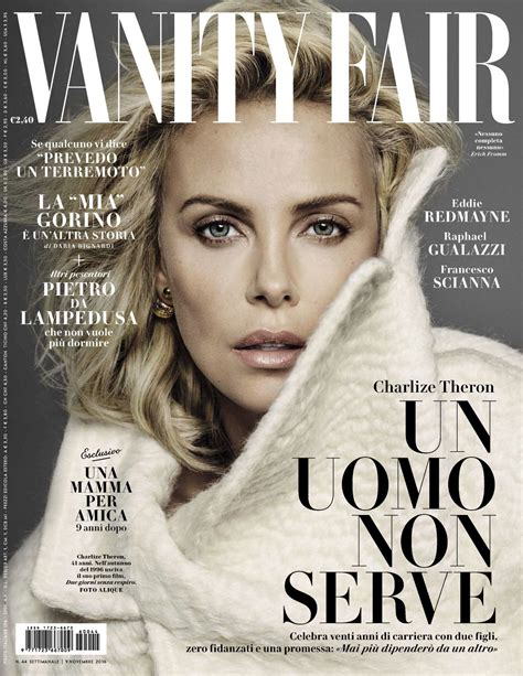 Vanity Fair It Magazine Charlize Theron Vanity Fair Magazine Italy 9th November 2016