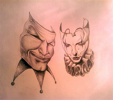 tattoo design theatre masks by tearendora on deviantart