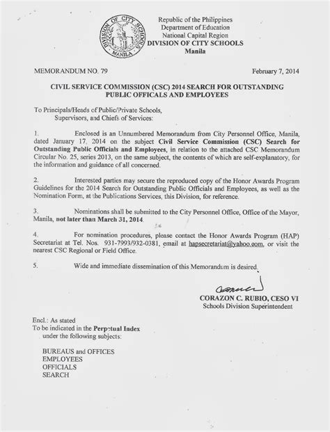 Payroll Section Department Of Education by Department Of Education Manila Division Memorandum No 79