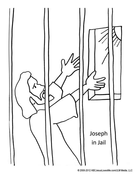 joseph in prison coloring page coloring pages