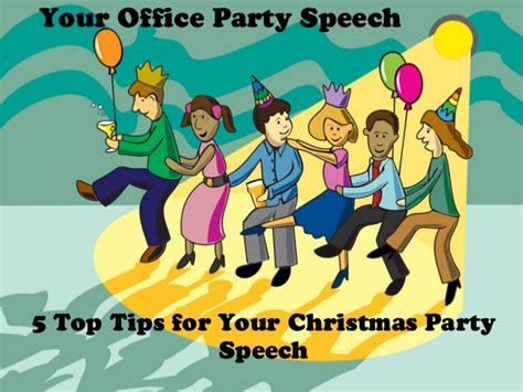 speech office party 5 top tips for your office speech