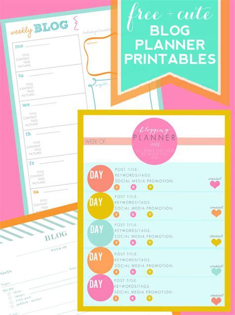 printable planner cute get organized blog planner printables