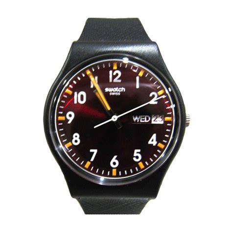 jual swatch gb753 black jam tangan pria harga