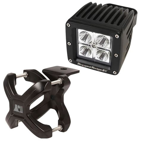 1 X 2 Rugged - rugged ridge 1 25 in to 2 in x cl light mount and 3