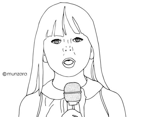 little girl singing coloring page girl singing coloring pages coloring pages