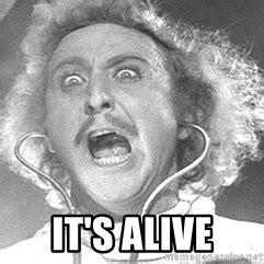 Young Frankenstein Meme - it s alive it s alive gene wilder young frankenstein