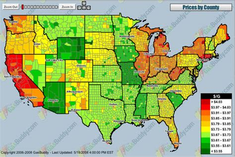 gas prices map usa gas prices map of the united states neatorama