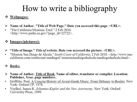 how to write bibliography for research paper how to do a bibliography page for a research paper 28