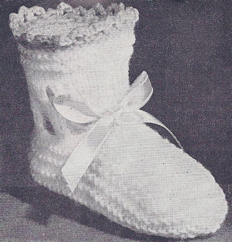 vintage knitting pattern baby booties vintage knitting pattern to make pattern baby socks