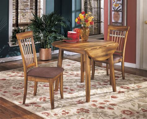 rustic round dining room tables berringer rustic brown round drm drop leaf table
