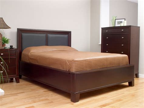 Leather Panel Headboard by Panel Bed W Leather Panels