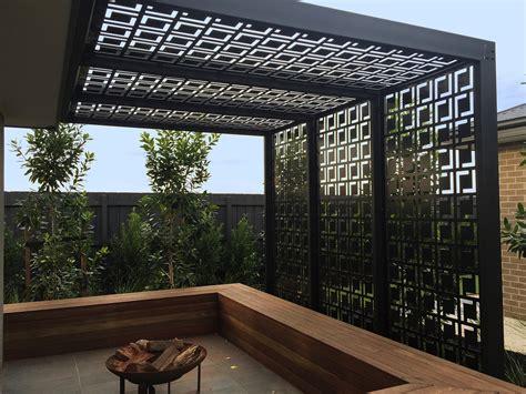 Acrylic Atap qaq decorative screens panel s babylon design shown here in black powder coated acm