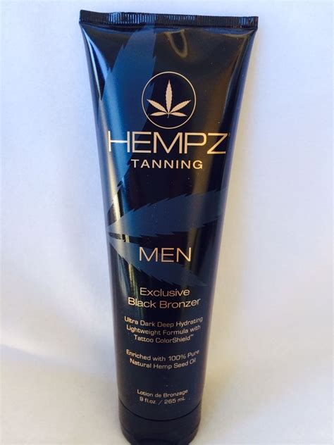 tanning lotion for tattoos hempz exclusive black bronzer colorshield