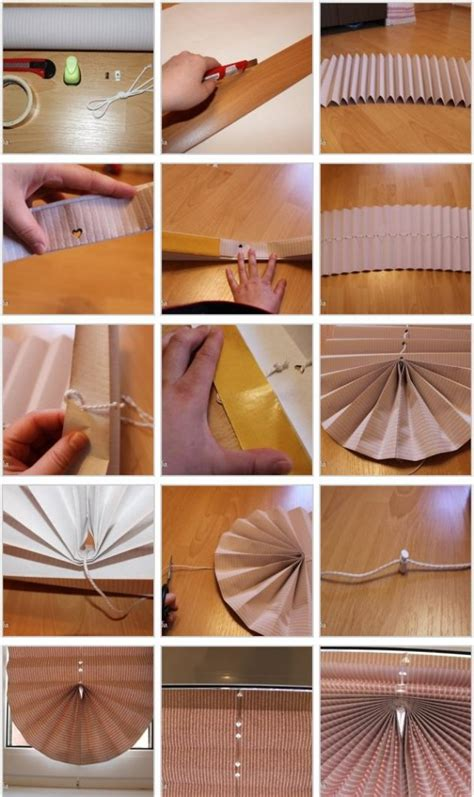 How To Make Paper Blinds - diy pull up paper window blinds diy