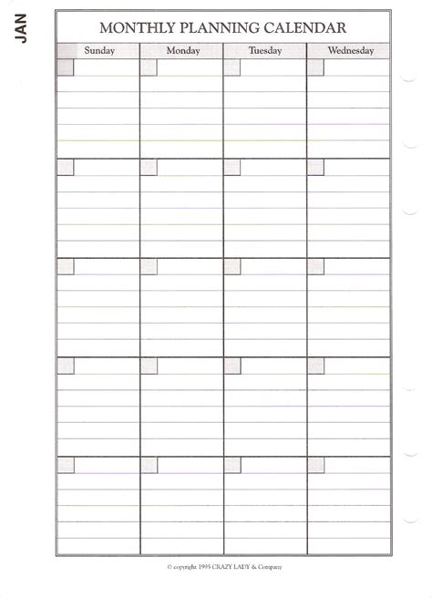monthly day planner pages big day planner pages