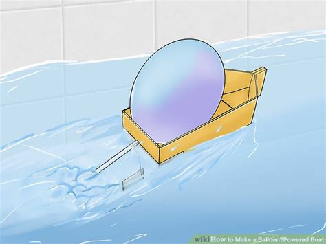 Balloon Borat by How To Make A Balloon Powered Boat With Pictures Wikihow