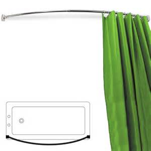 Curved Shower Curtains Arc Curved Extendable 110cm 196cm Chrome Shower Curtain Rail Silver Watson S On The Web