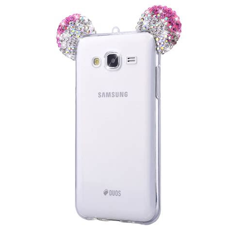 Best Seller Samsung Galaxy J3 2016 Unique 3d Tpu Soft Golden Wh aliexpress buy 3d glitter mouse ears rhinestone clear phone for samsung