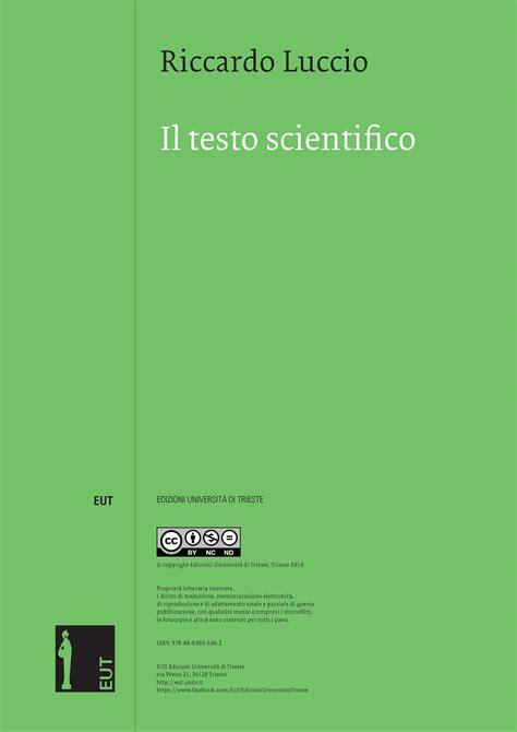 testo scientifico il testo scientifico openstarts