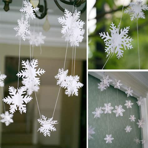 3 meters white paper snowflake christmas holiday tree