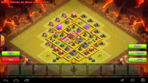 layout cv 7 guerra youtube layout para guerra de clan cv7 clan war base town hall 7