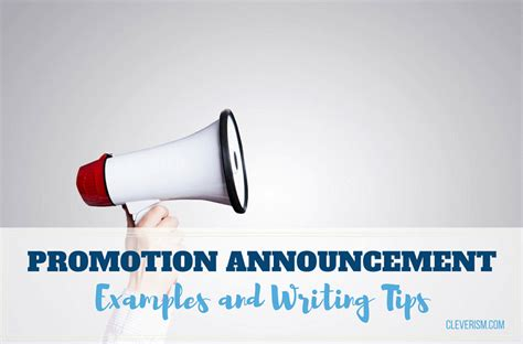 promotion announcement exles and writing tips