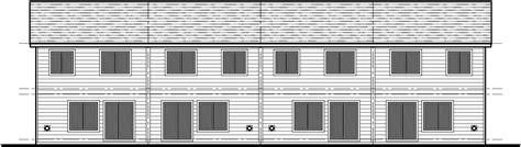 fourplex house plans fourplex plan 20 ft wide house plan row home plan 4 plex f 547