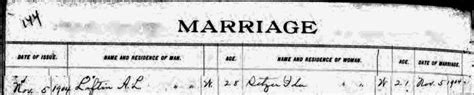 Catawba County Marriage Records Alonzo Lester Loftin