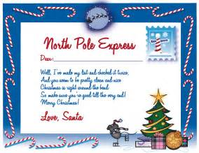Free Printable Letter From Santa Claus Template Ho Ho Ho Write A Letter To Santa Claus Yes Kids It