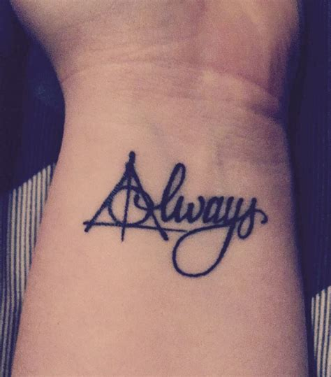 always tattoo harry potter 25 best ideas about deathly hallows on