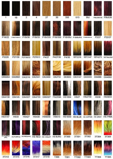 wig color chart it s a wig hair color chart 2 wigs galour