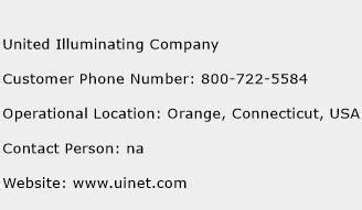 united illuminating company customer service phone number toll free contact address