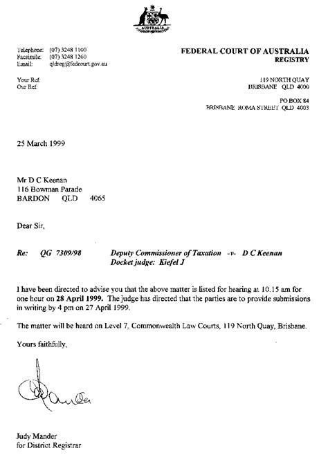 Creditors Rights Attorney Resume by 4 Court Notice Letter Notice Letter