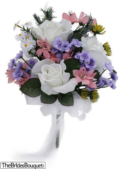 Wildflower Toss Bouquet   Silk Bridal Wedding Bouquet
