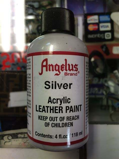 angelus paint vs angelus silver acrylic leather paint 4 fl oz jwong boutique