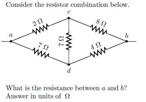 combination resistor problems and solutions consider the resistor combination below what is t chegg