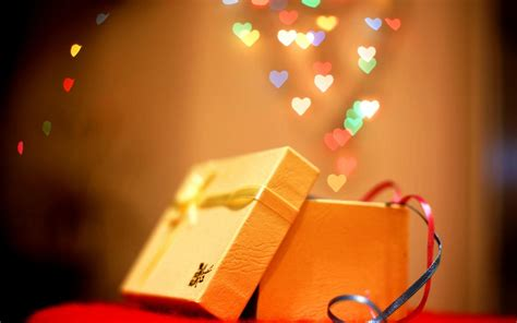holiday new year christmas gift box bokeh hearts 6917118
