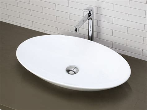 shallow bathroom sink white shallow oval ceramic vessel sink