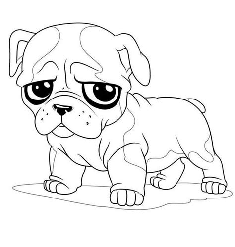 pug colouring pages pug sad coloring page color