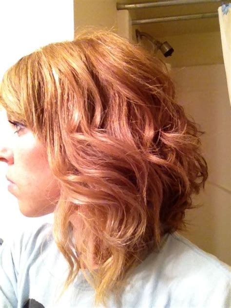 blonde hair with copper lowlights copper lowlights blonde highlights curly swing bob hair