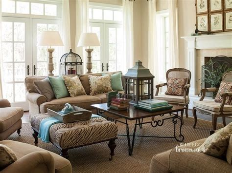 robin egg blue and brown living room home 2013 pinterest furniture ottomans and pattern