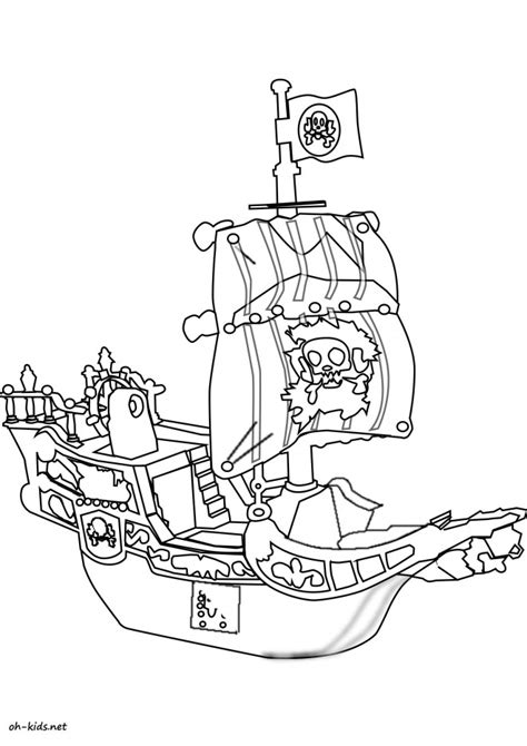 dessin bateau colorier coloriage bateau pirate dessin anim 233 dessin gratuit 224 imprimer