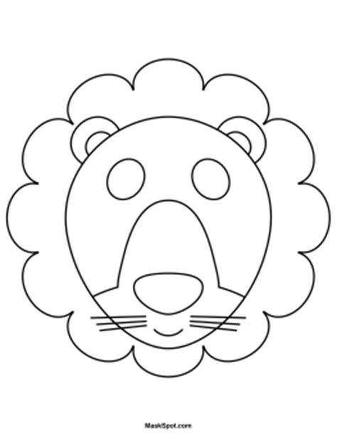 lion mask template www pixshark com images galleries