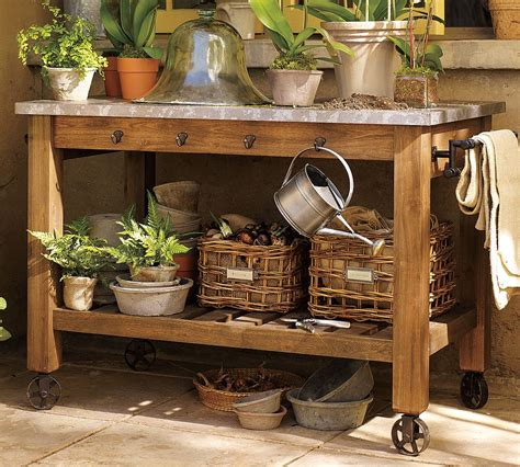 how to make potting bench upcycled garden wares for the potting bench garden variety