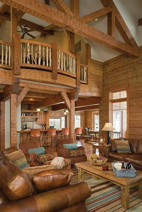 amazing log cabin interior only in my dreams