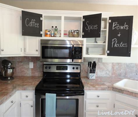 Kitchen Cabinet Doors Makeover Ideas Kitchen Makeover With Chalkboard Cabinet Doors