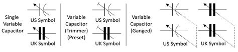 how to connect variable capacitor in circuit circuit symbols of variable capacitor binaryupdates